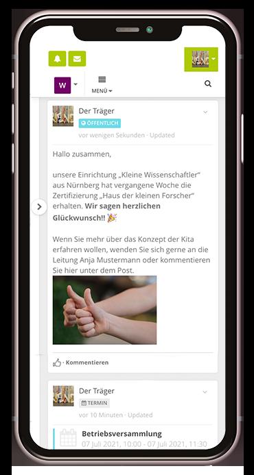 Post zur Trägerfunktion der Kita-App Stramplerbande