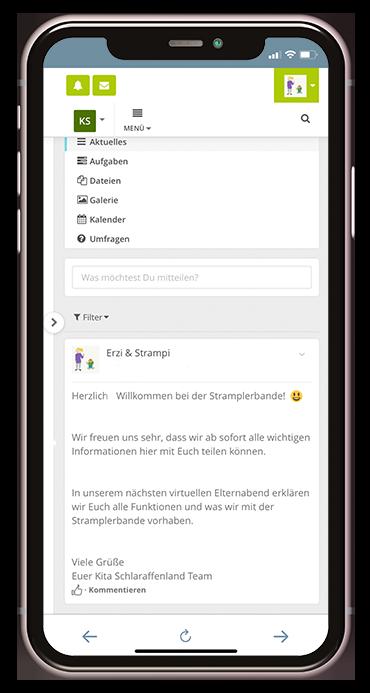 Smartphone Screenshot_Willkommen